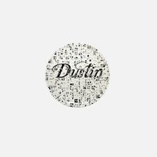 Dustin, Matrix, Abstract Art Mini Button