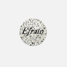 Efrain, Matrix, Abstract Art Mini Button
