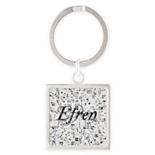 Efren, Matrix, Abstract Art Square Keychain