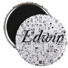 Edwin, Matrix, Abstract Art Magnet
