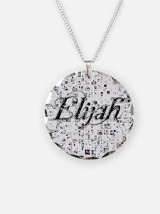 Elijah, Matrix, Abstract Art Necklace