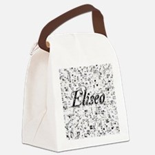 Eliseo, Matrix, Abstract Art Canvas Lunch Bag
