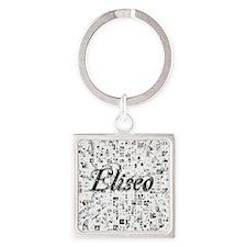 Eliseo, Matrix, Abstract Art Square Keychain