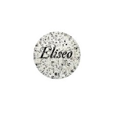 Eliseo, Matrix, Abstract Art Mini Button