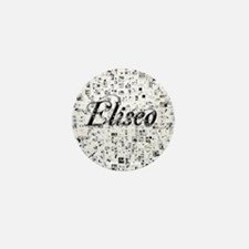 Eliseo, Matrix, Abstract Art Mini Button