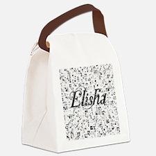Elisha, Matrix, Abstract Art Canvas Lunch Bag