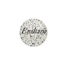 Emiliano, Matrix, Abstract Art Mini Button