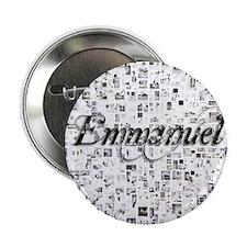 """Emmanuel, Matrix, Abstract Art 2.25"""" Button"""
