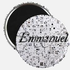 Emmanuel, Matrix, Abstract Art Magnet