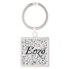 Enzo, Matrix, Abstract Art Square Keychain