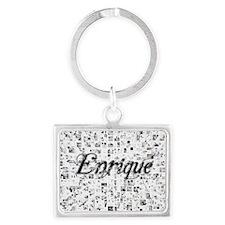 Enrique, Matrix, Abstract Art Landscape Keychain