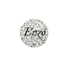 Enzo, Matrix, Abstract Art Mini Button