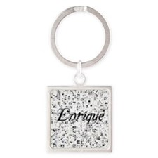 Enrique, Matrix, Abstract Art Square Keychain