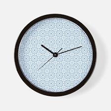 Amara Cornflower Shower curtain Wall Clock