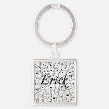 Erick, Matrix, Abstract Art Square Keychain