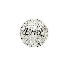 Erick, Matrix, Abstract Art Mini Button