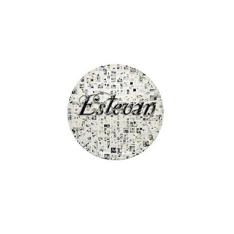 Estevan, Matrix, Abstract Art Mini Button