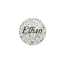 Ethan, Matrix, Abstract Art Mini Button