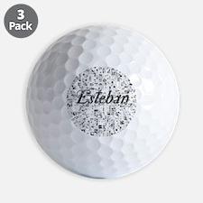 Esteban, Matrix, Abstract Art Golf Ball