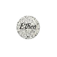 Ethen, Matrix, Abstract Art Mini Button
