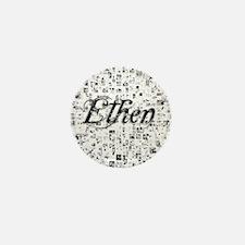 Ethen, Matrix, Abstract Art Mini Button