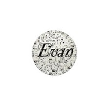 Evan, Matrix, Abstract Art Mini Button