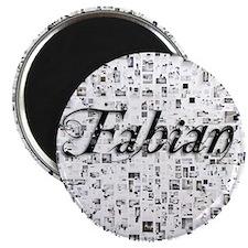 Fabian, Matrix, Abstract Art Magnet