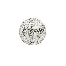 Ezequiel, Matrix, Abstract Art Mini Button