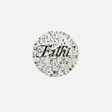 Fathi, Matrix, Abstract Art Mini Button