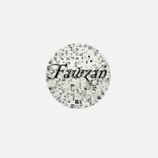 Fawzan, Matrix, Abstract Art Mini Button