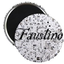 Faustino, Matrix, Abstract Art Magnet