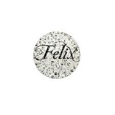 Felix, Matrix, Abstract Art Mini Button