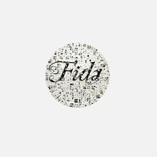Fida, Matrix, Abstract Art Mini Button