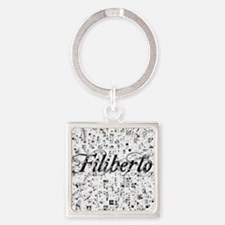 Filiberto, Matrix, Abstract Art Square Keychain