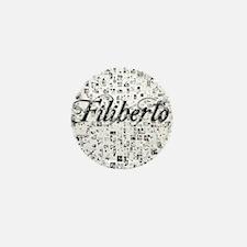 Filiberto, Matrix, Abstract Art Mini Button