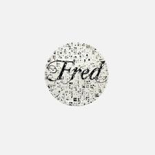 Fred, Matrix, Abstract Art Mini Button