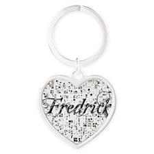 Fredrick, Matrix, Abstract Art Heart Keychain
