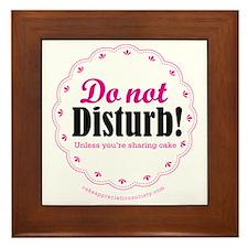 Do not disturb Framed Tile