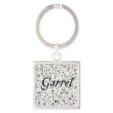 Garret, Matrix, Abstract Art Square Keychain