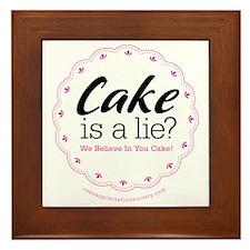 Cake is a Lie Framed Tile