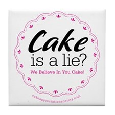 Cake is a Lie Tile Coaster