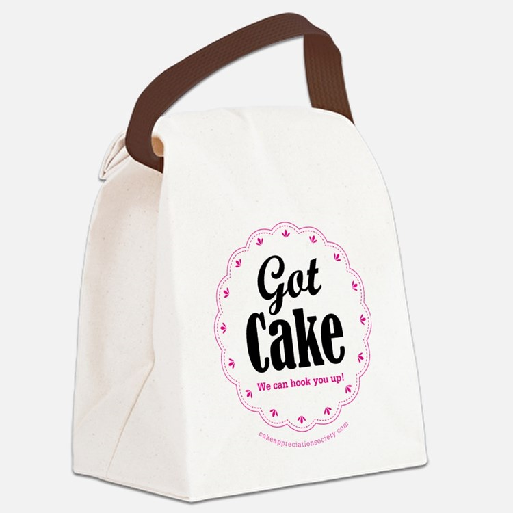 Got Cake Canvas Lunch Bag
