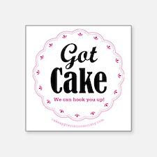 "Got Cake Square Sticker 3"" x 3"""