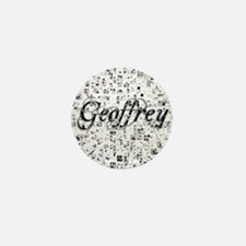 Geoffrey, Matrix, Abstract Art Mini Button