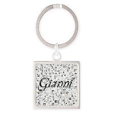 Gianni, Matrix, Abstract Art Square Keychain