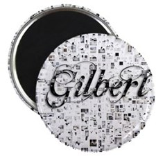 Gilbert, Matrix, Abstract Art Magnet