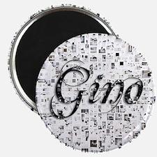 Gino, Matrix, Abstract Art Magnet