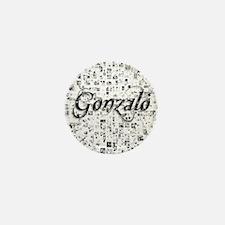 Gonzalo, Matrix, Abstract Art Mini Button