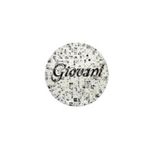 Giovani, Matrix, Abstract Art Mini Button