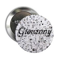 "Giovanny, Matrix, Abstract Art 2.25"" Button"
